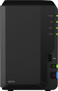 Synology  DS218 2x0HDD 2GB 4x1.4G hz 1xGbE 3xUSB H265 VC-1 [SL]