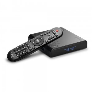 Elmak Odtwarzacz multimedialny SAVIO TB-S01 Smart TV Box Siler, 2/16GB, 8K, Android 9.0 Pie, USB 3.0, Wi-Fi, lan 100mbps